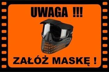 Baner/Tablica Ostrzegawcza Informacyjna Field Sign Banner - Załóż Maskę