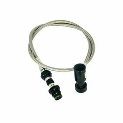 Dye Remote Hose - Steel Straight with Bleeder
