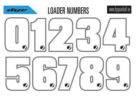 Dye Loader Number Sticker Sheet